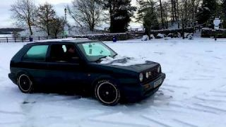 Mk2 Golf GTI 16V playing in the snow Killington Lake, Cumbria | Planet Auto