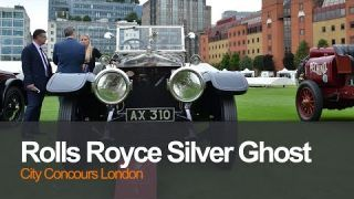 1912 Rolls Royce Silver Ghost sounding horns City Concours